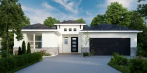 Outside rendering of a Brite home.