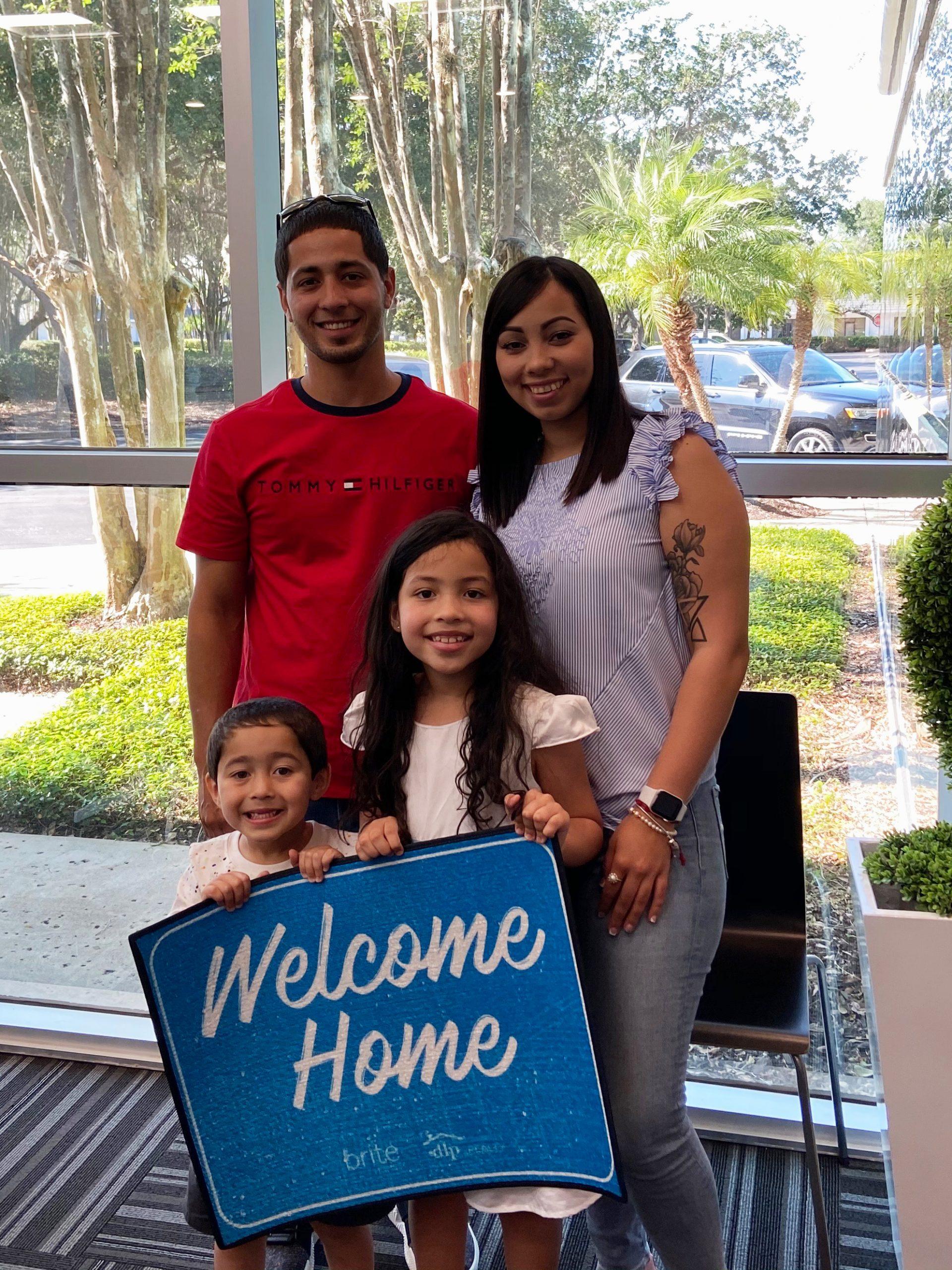 photos of family at closing