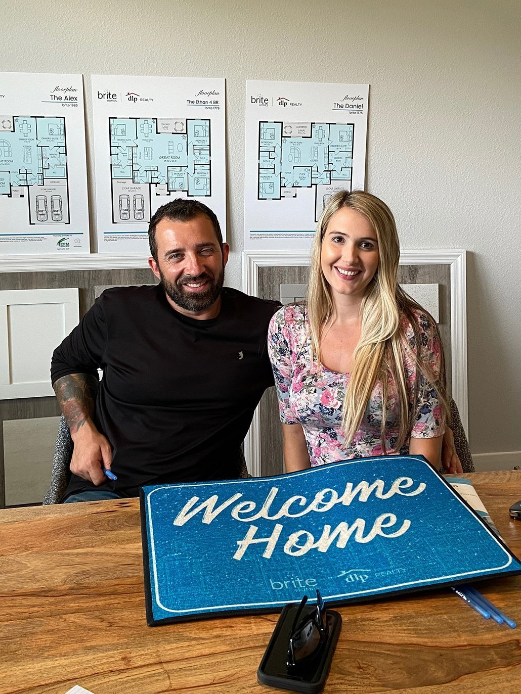 couple closing on a brite home