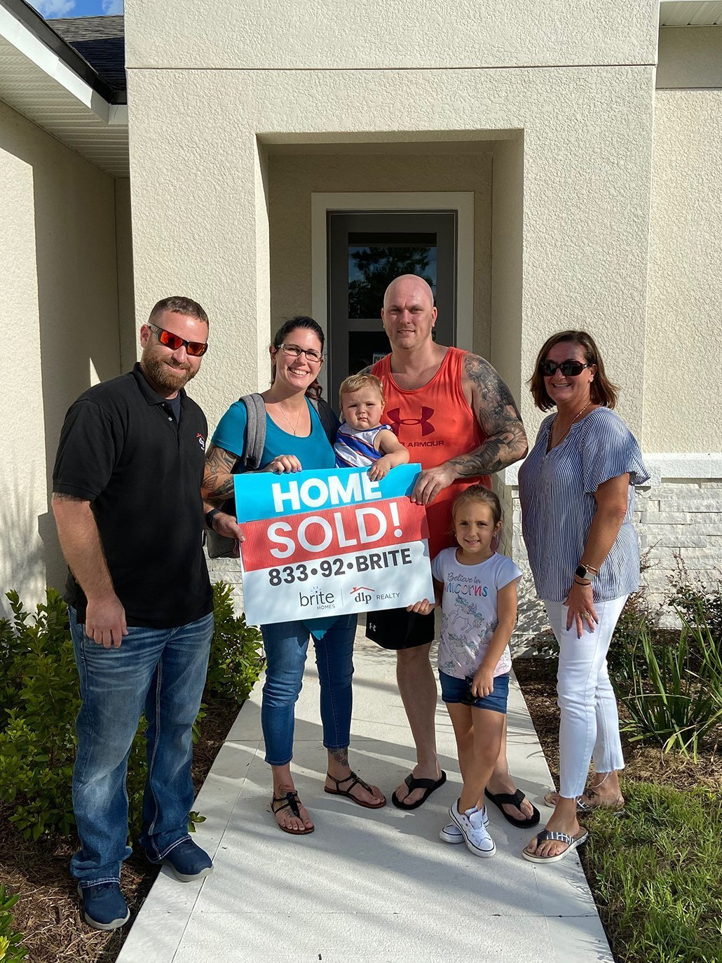 family closing on a brite home